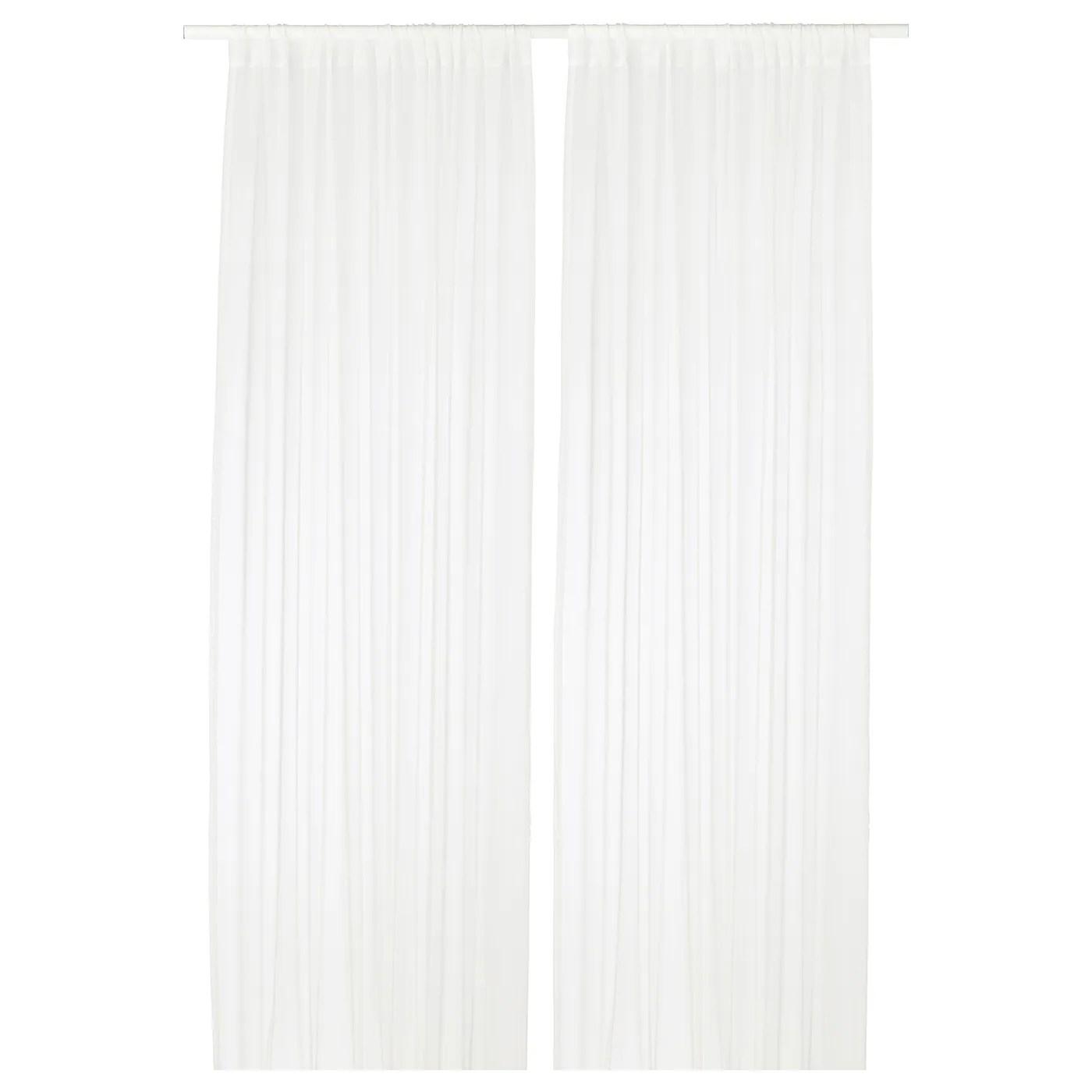 teresia voilage 2 pieces blanc 145x300 cm