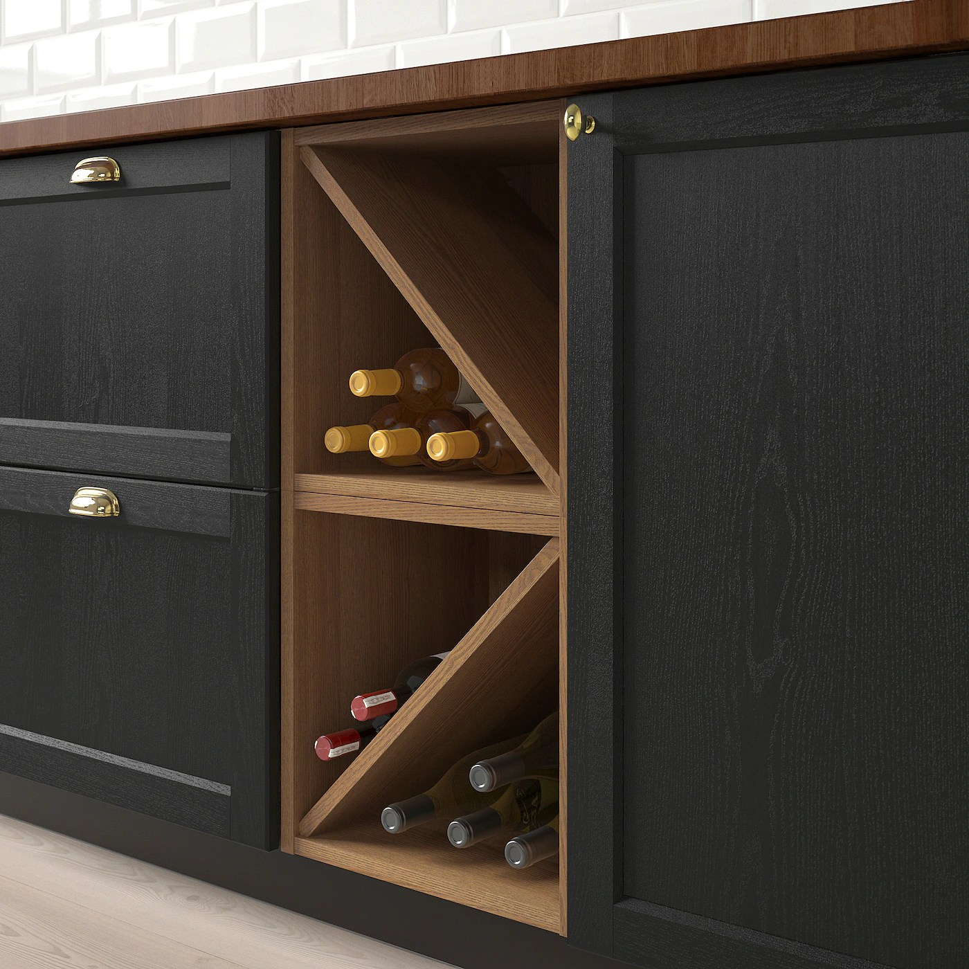 vadholma range bouteilles brun frene teinte 40x37x40 cm