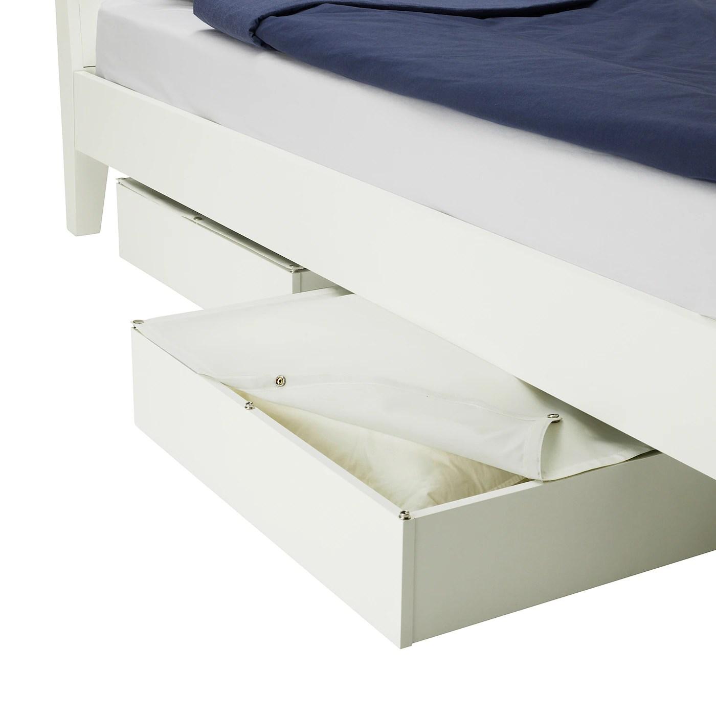 vardo rangement pour lit blanc 65x70 cm