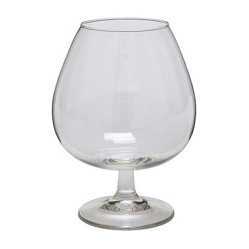 OPTIMAL Cognacglas IKEA Extra grote kelk zodat het aroma versterkt wordt.
