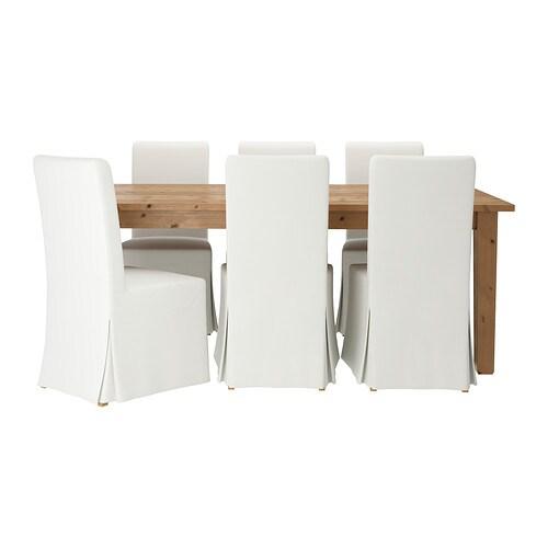 STORNS  HENRIKSDAL Tafel met 6 stoelen  IKEA