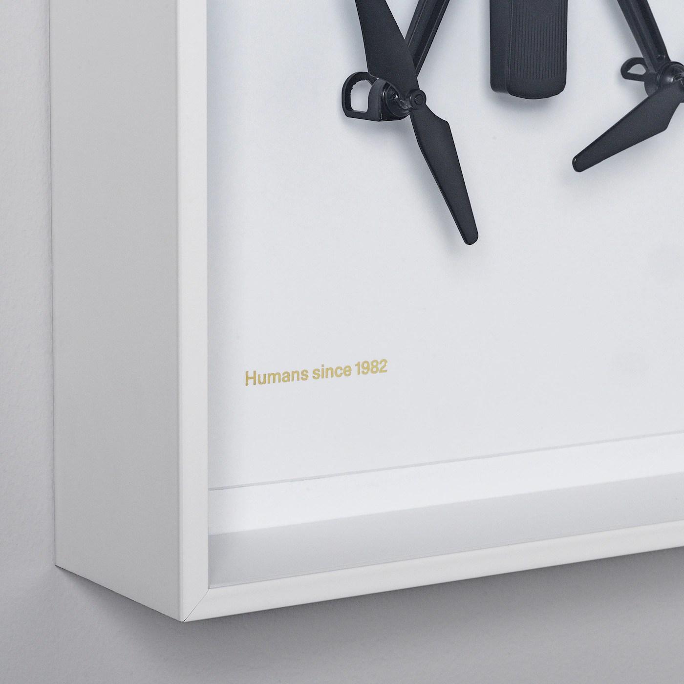 IKEA ART EVENT 2021 Wall decoration, drone motif white, 26x35 cm   IKEA