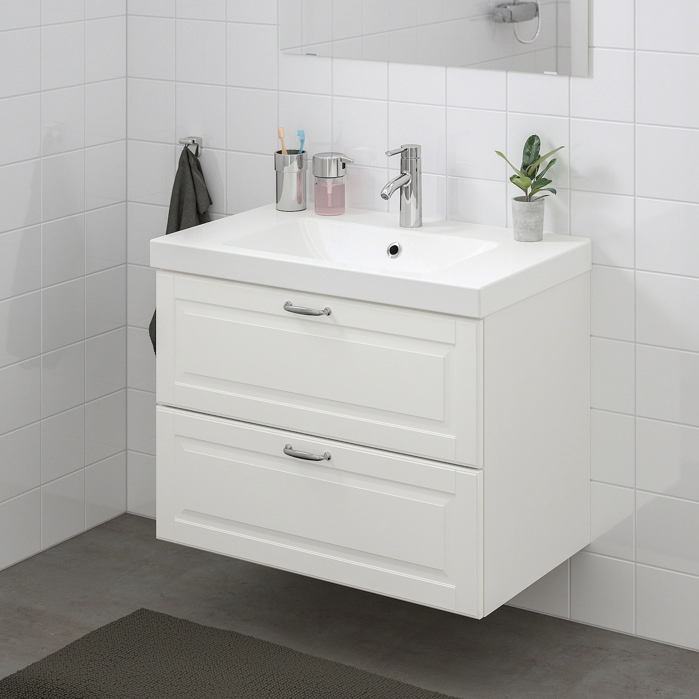 Godmorgon Bathroom Vanity Kasjon White Ikea