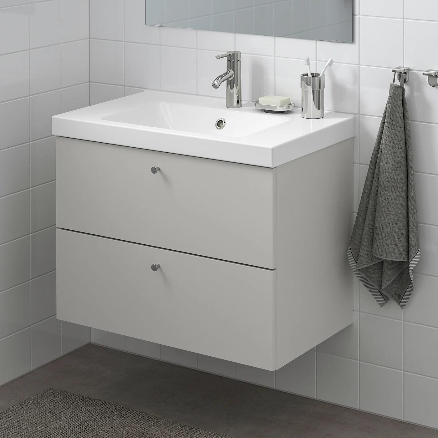 godmorgon odensvik bathroom vanity gillburen light gray dalskar faucet 32 5 8x19 1 4x25 1 4 83x49x64 cm