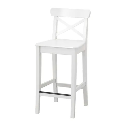 ikea kitchen bar tall trash can ingolf stool with backrest 63 cm