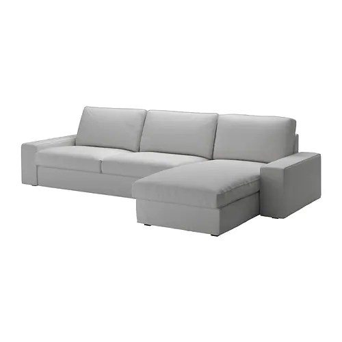 gray sofa with chaise lounge extra long protector kivik sectional 4 seat orrsta light ikea