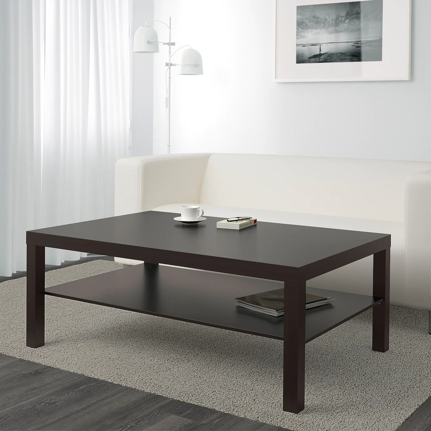 lack coffee table black brown 46 1 2x30 3 4 118x78 cm