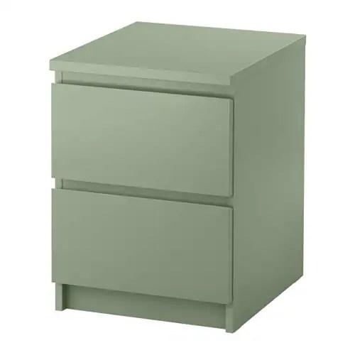 MALM 2 Drawer Chest Light Green IKEA