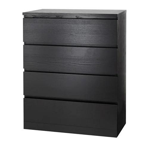 MALM 4drawer chest  blackbrown  IKEA