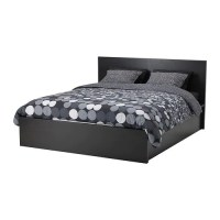 MALM Pull up storage bed - black-brown, Full/Double - IKEA