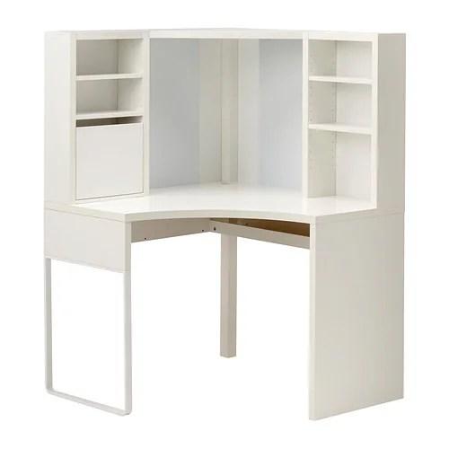 Micke Corner Work Station White Ikea