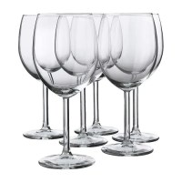 SVALKA Red wine glass IKEA The glass has a large bowl which helps the wine's aromas and flavors to develop better, enhancing your experience.