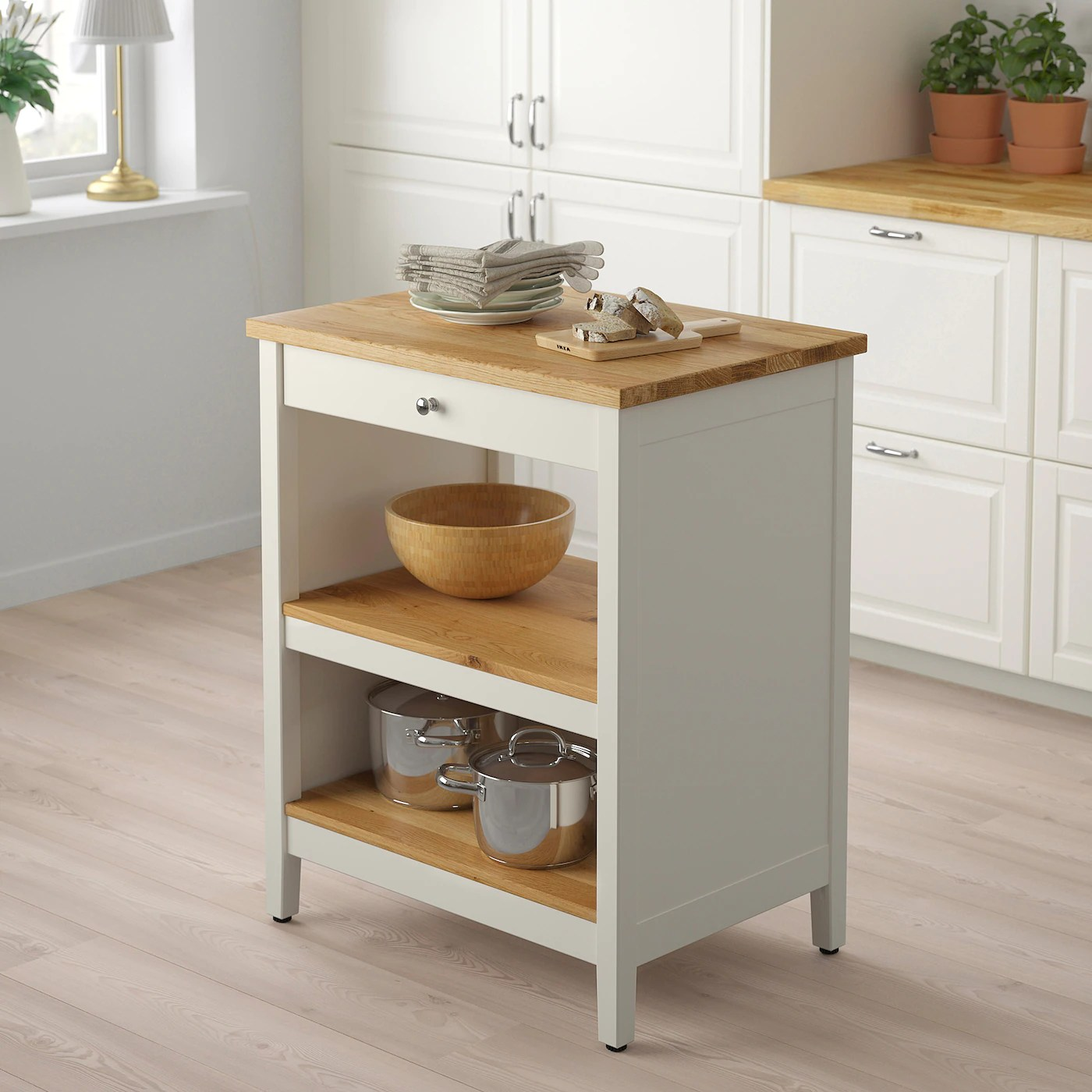 Tornviken Kitchen Island Off White Oak Ikea Canada Ikea