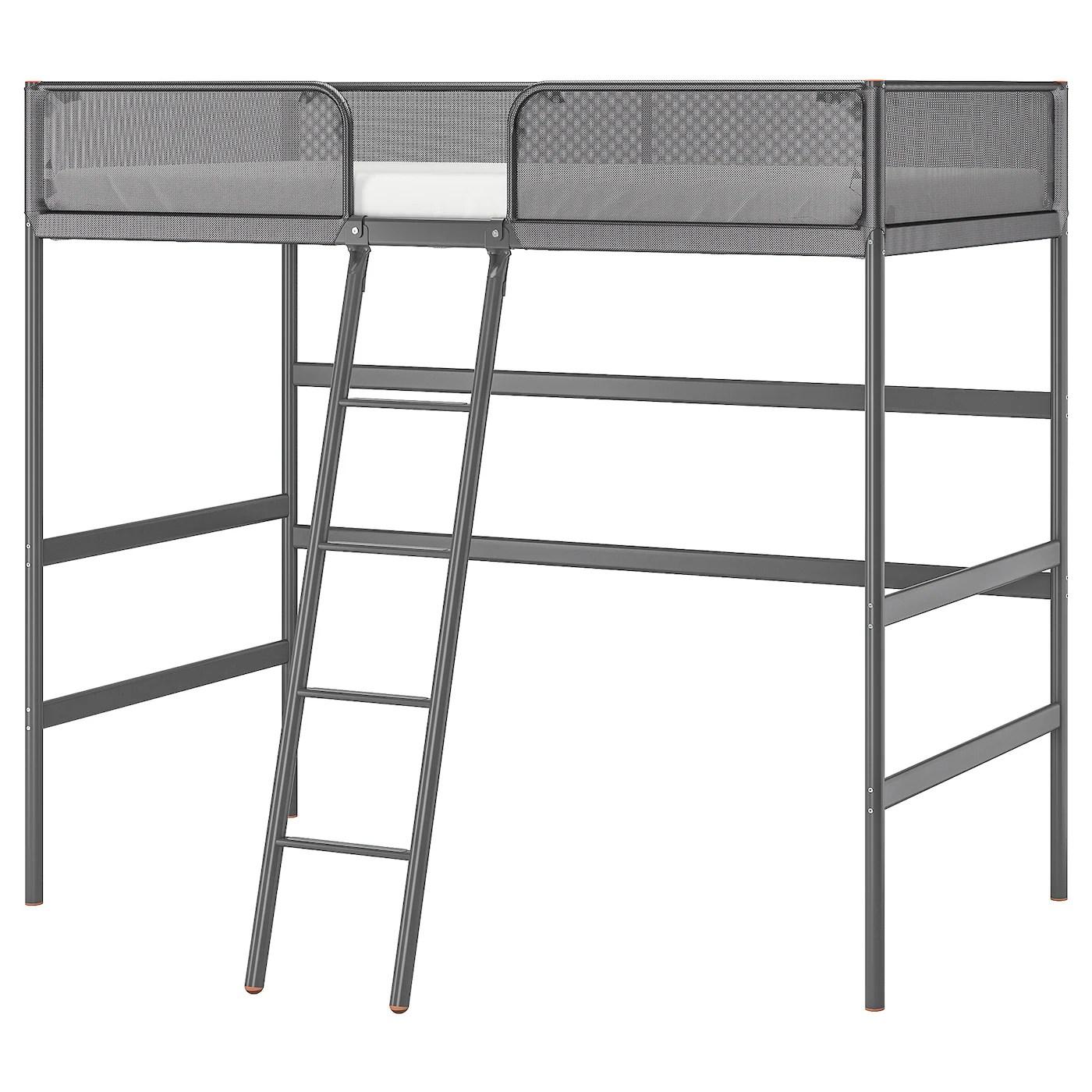 Tuffing Loft Bed Frame Dark Gray Ikea