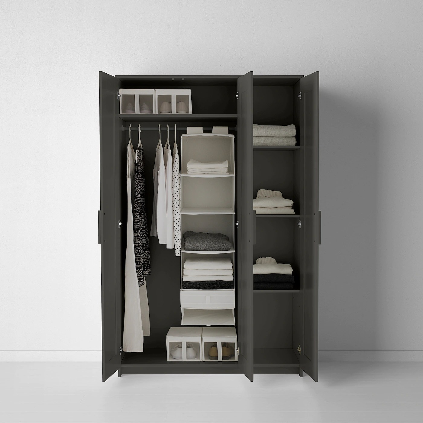 brimnes armoire 3 portes gris 46 1 8x74 3 4 117x190 cm