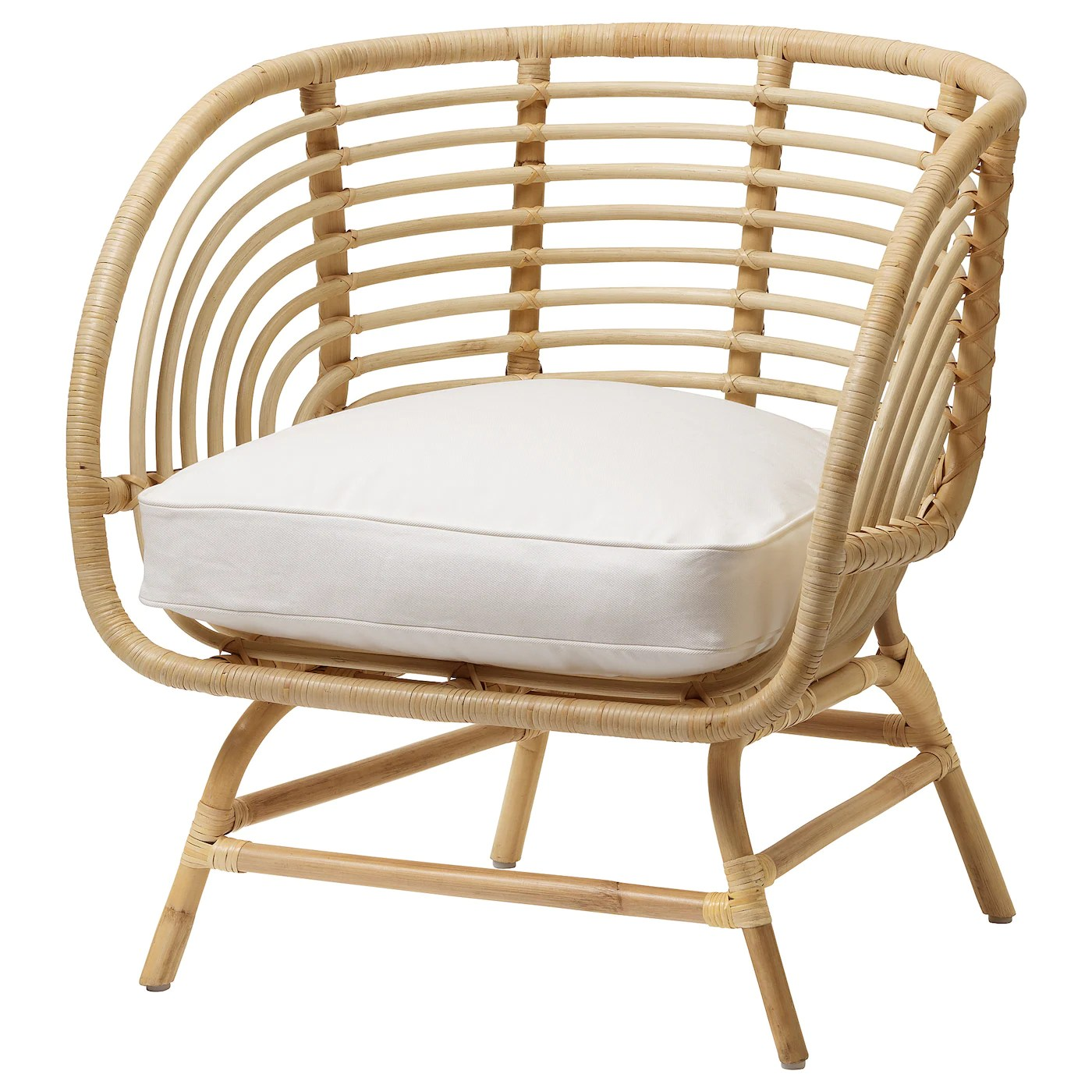 buskbo fauteuil rotin djupvik blanc