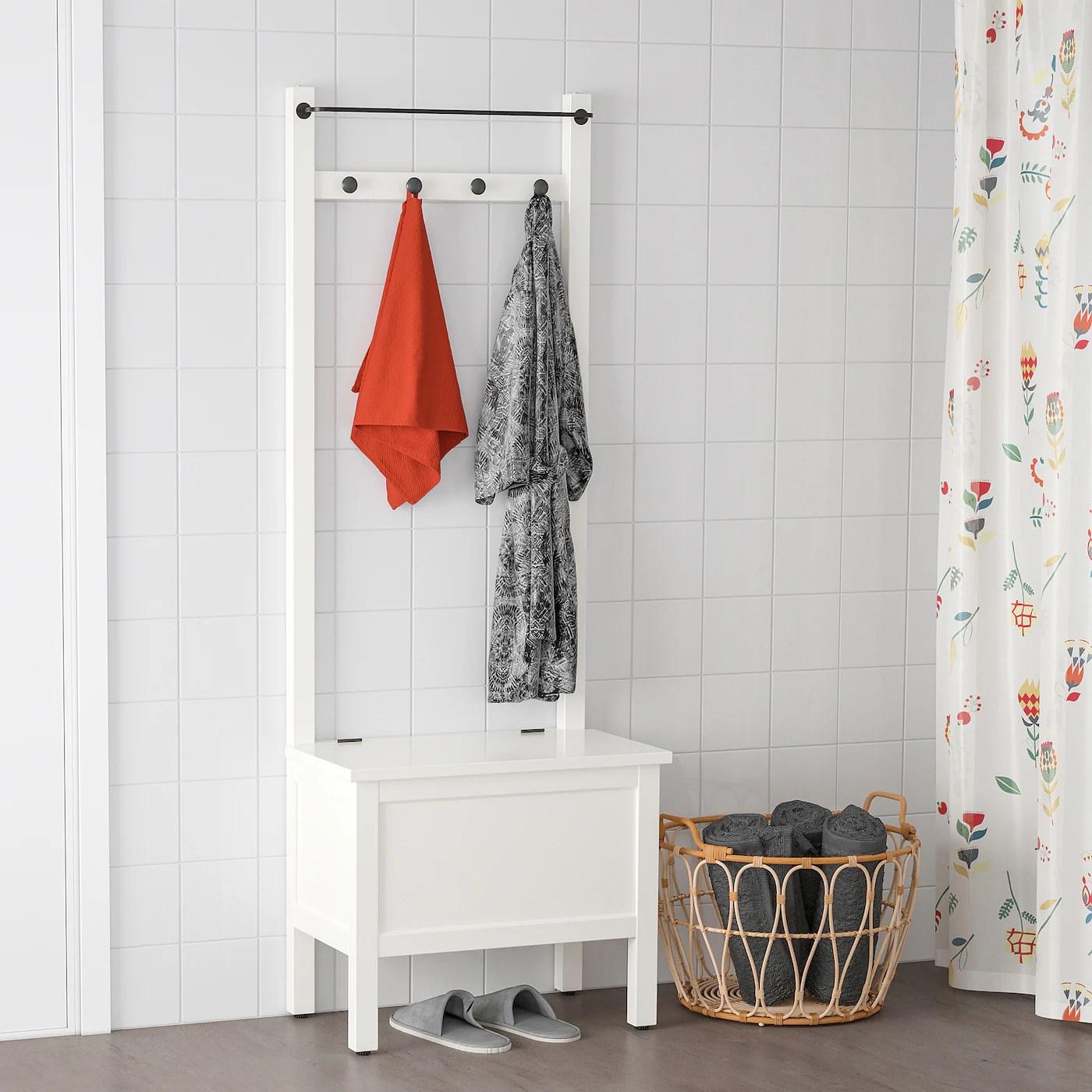 Hemnes Banc Rgt Barre Pte Serv 4 Crochets Blanc 64x37x173cm Site Web Officiel Ikea