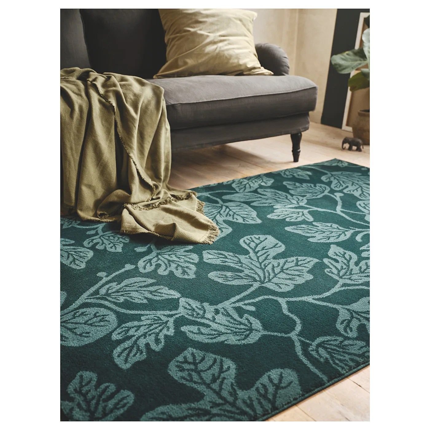 ikea porte tapis belle turquoise sol