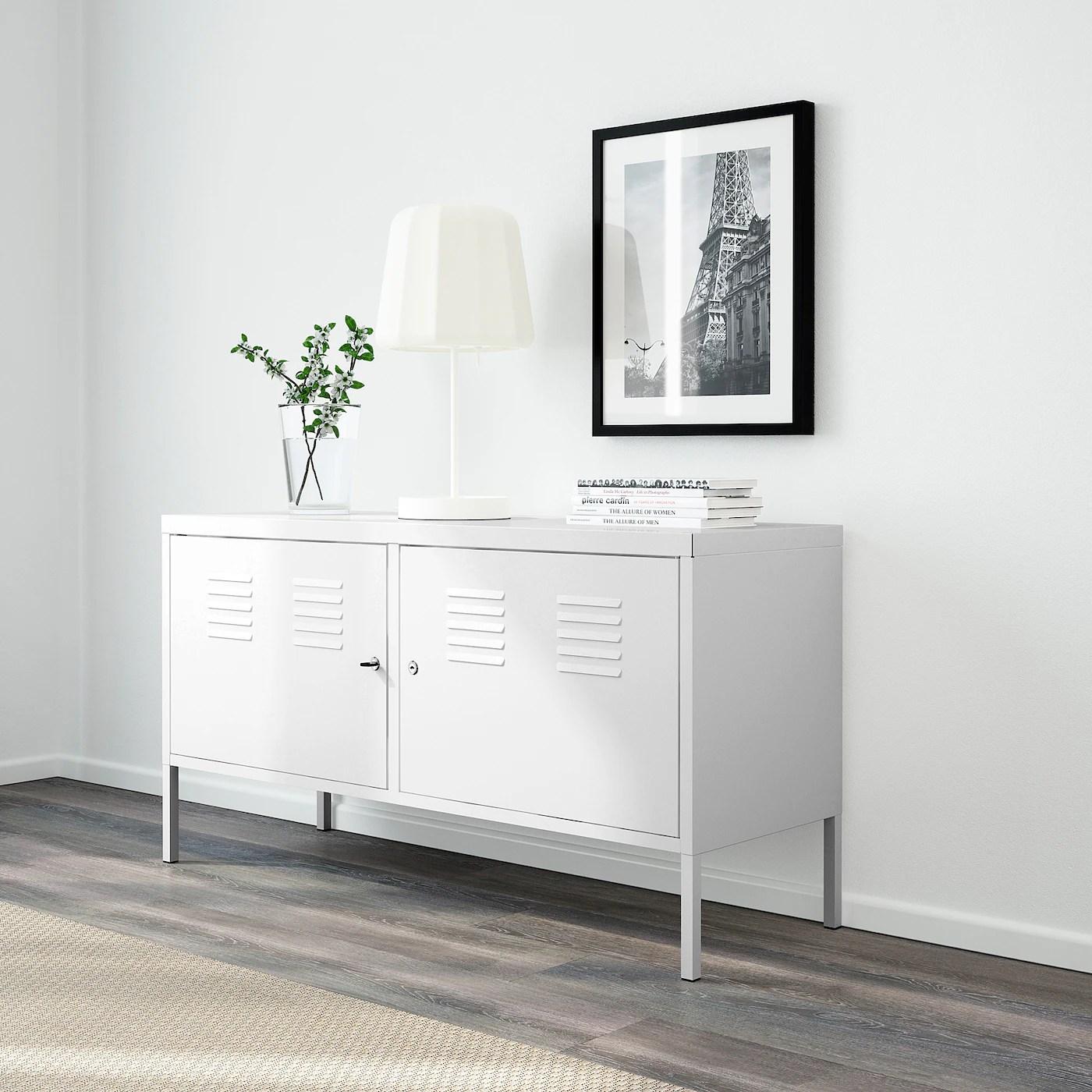 ikea ps armoire metallique blanc 46 7 8x24 3 4 119x63 cm