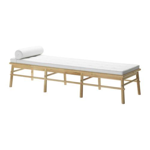 """IKEA PS AUGUST Banquette blanc Largeur: 77 1/8 """" Profondeur: 23 1/4 """" Hauteur: 18 1/2 """"  Largeur: 196 cm Profondeur: 59 cm Hauteur: 47 cm"""