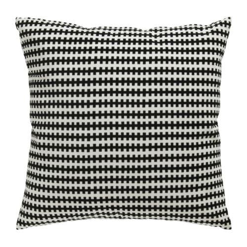 """IKEA STOCKHOLM Coussin noir, blanc Longueur: 22 """" Largeur: 22 """"  Longueur: 55 cm Largeur: 55 cm"""