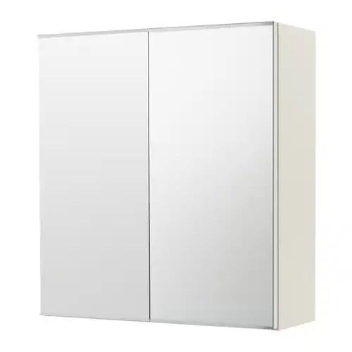 lillangen armoire a pharmacie 2 portes miroir