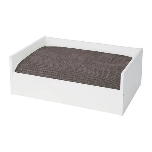 LURVIG Lit chatchien avec coussin  blancgris  IKEA