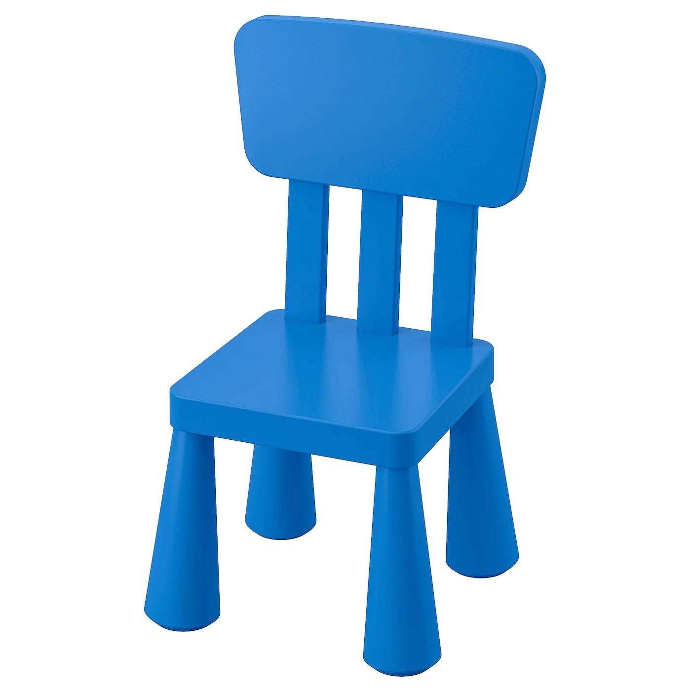 mammut chaise enfant interieur exterieur bleu