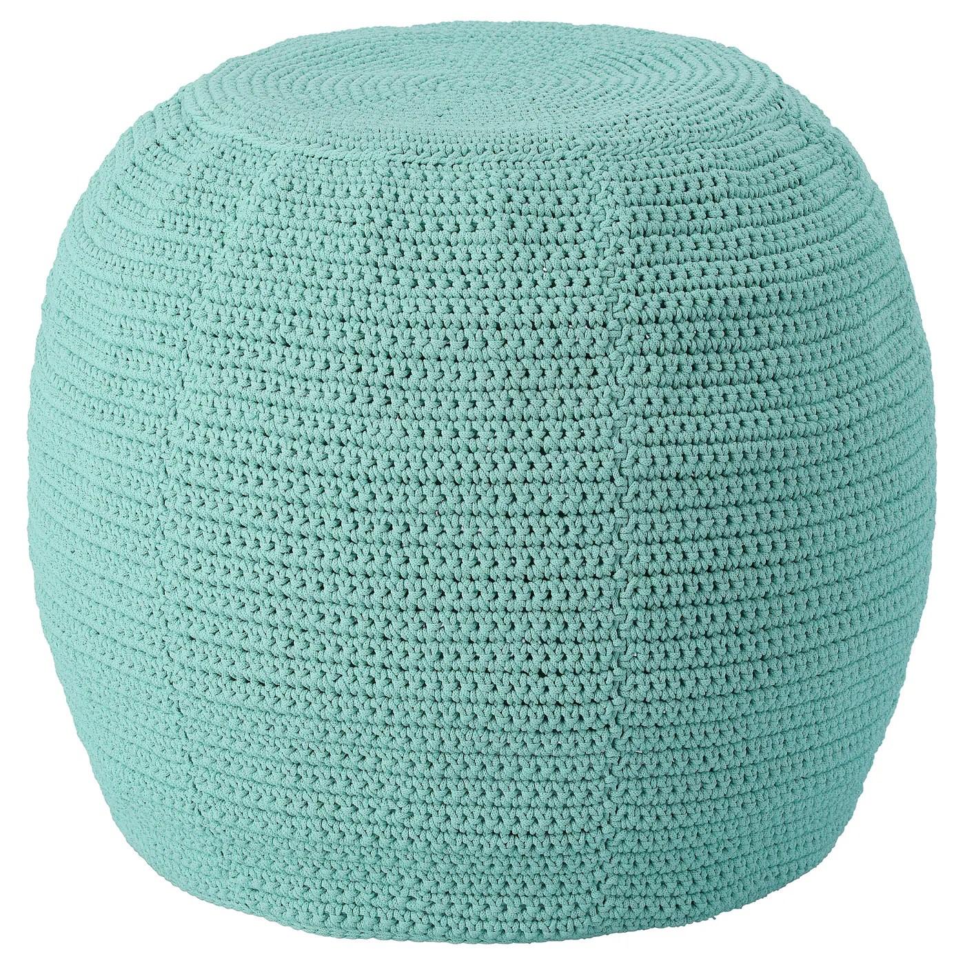otteron housse pour pouf int exterieur turquoise clair 18 7 8 48 cm