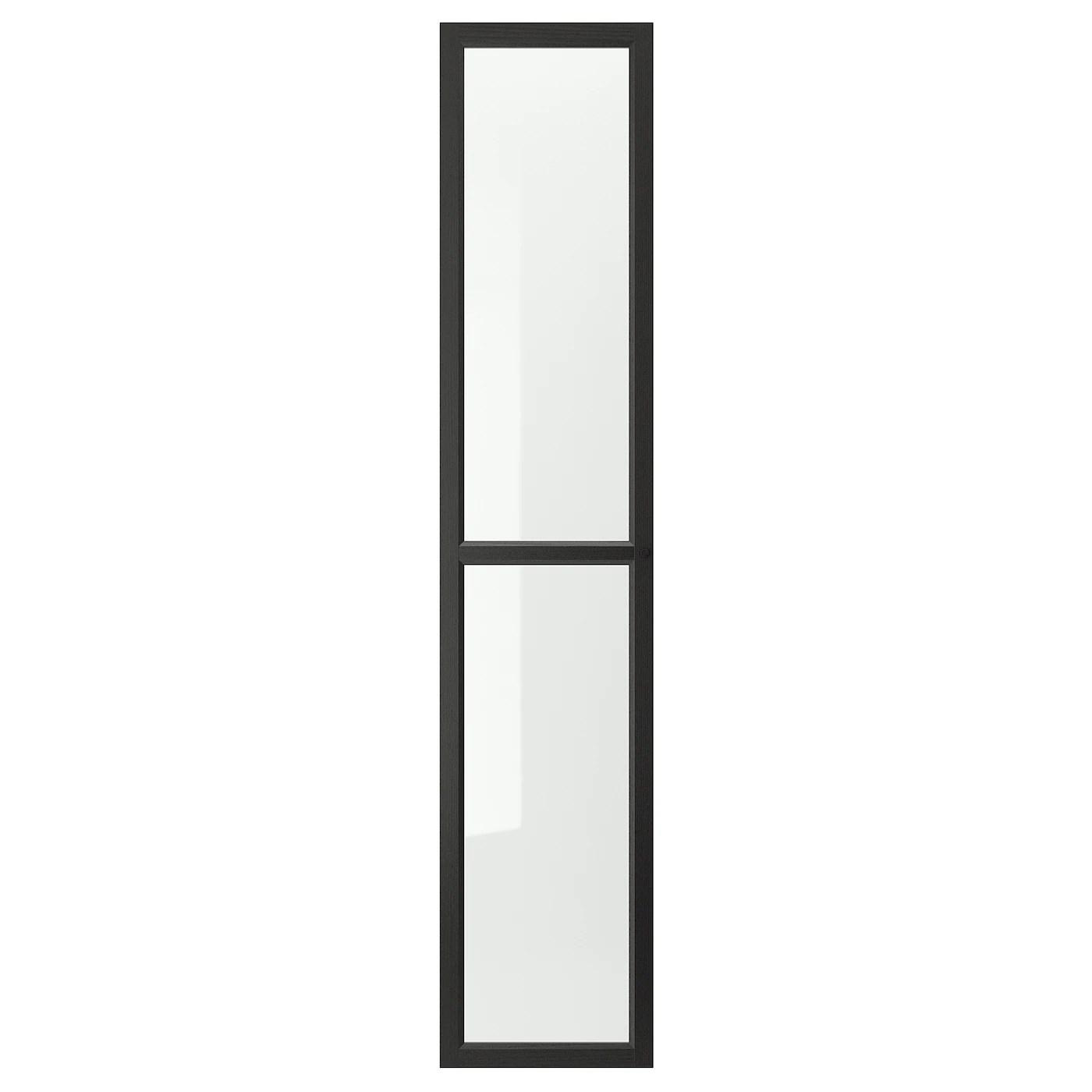 oxberg porte vitree brun noir 15 3 4x75 5 8 40x192 cm