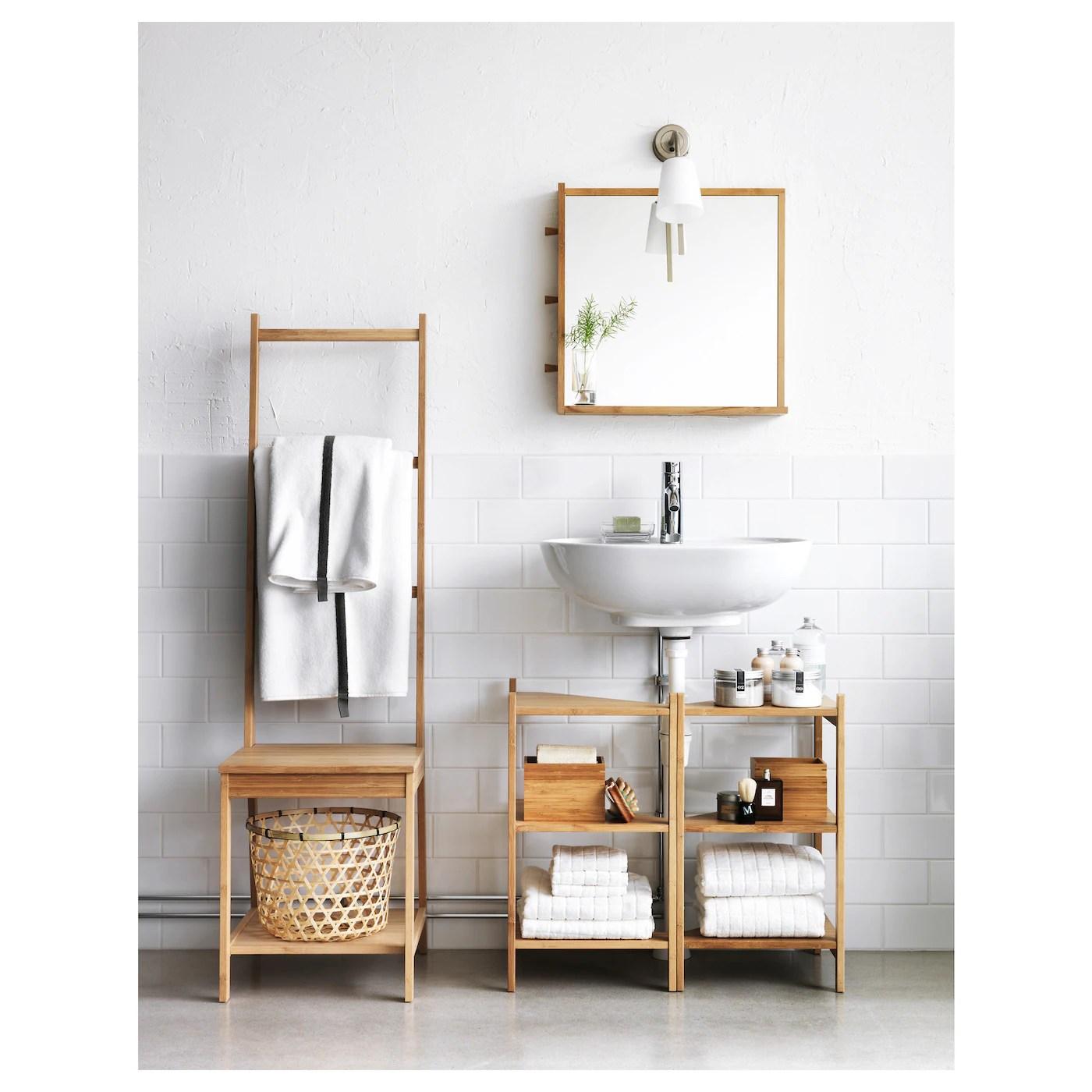 ragrund chaise porte serviettes bambou