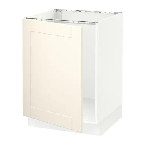 SEKTION Armoire infrieure pour vier  blanc Grimslv blanc cass  IKEA