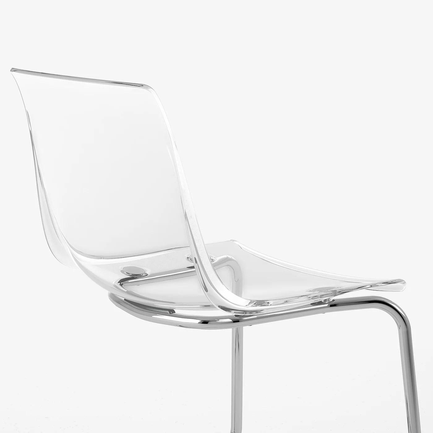 tobias chaise transparent chrome