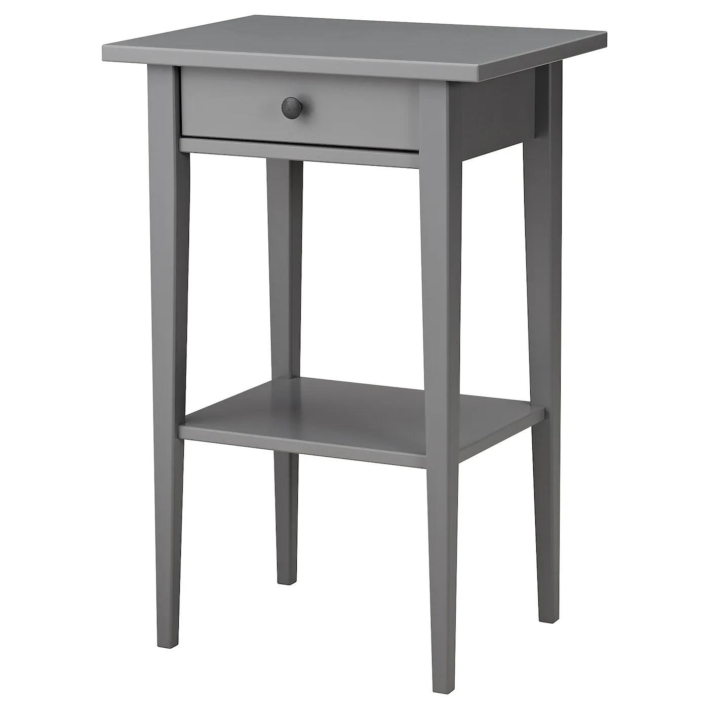 Bedside Table Hemnes Grey