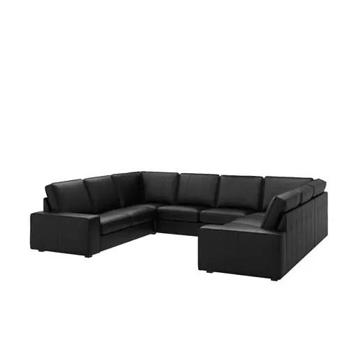 u shaped sofa leather decorating with mint green kivik 6 seat 8 seater grann bomstad black ikea