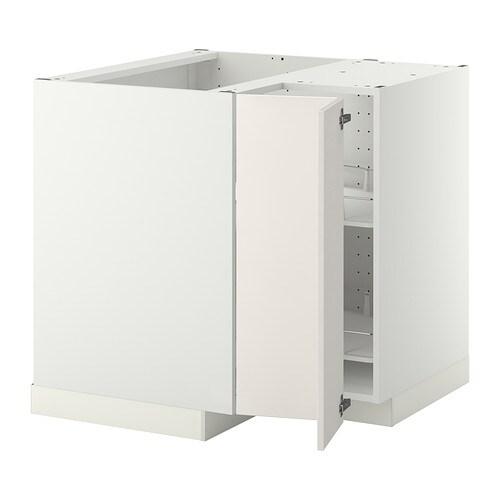 METOD Lment Bas Anglergt Pivotant Veddinge Blanc IKEA