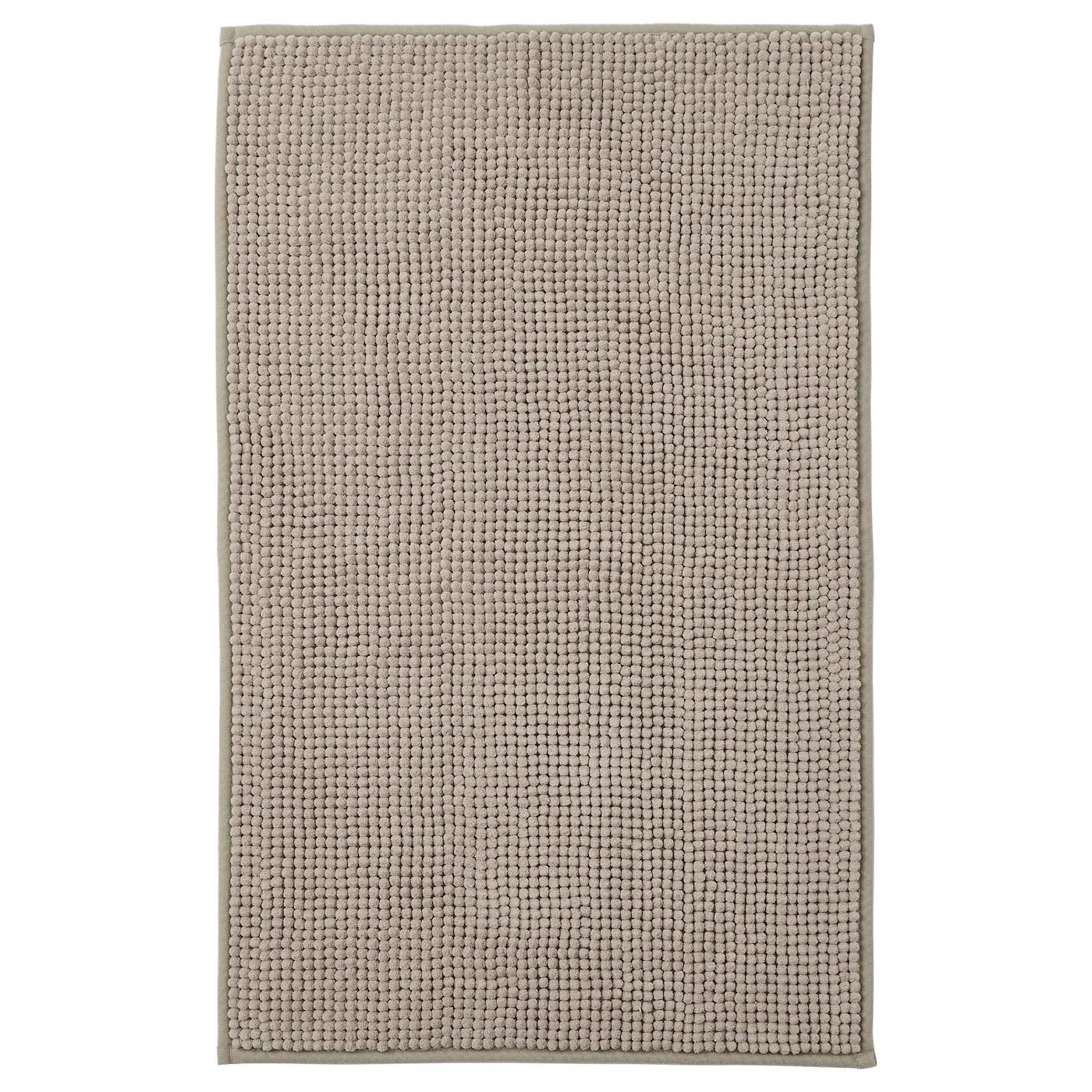 toftbo tapis de bain beige fonce 50x80 cm