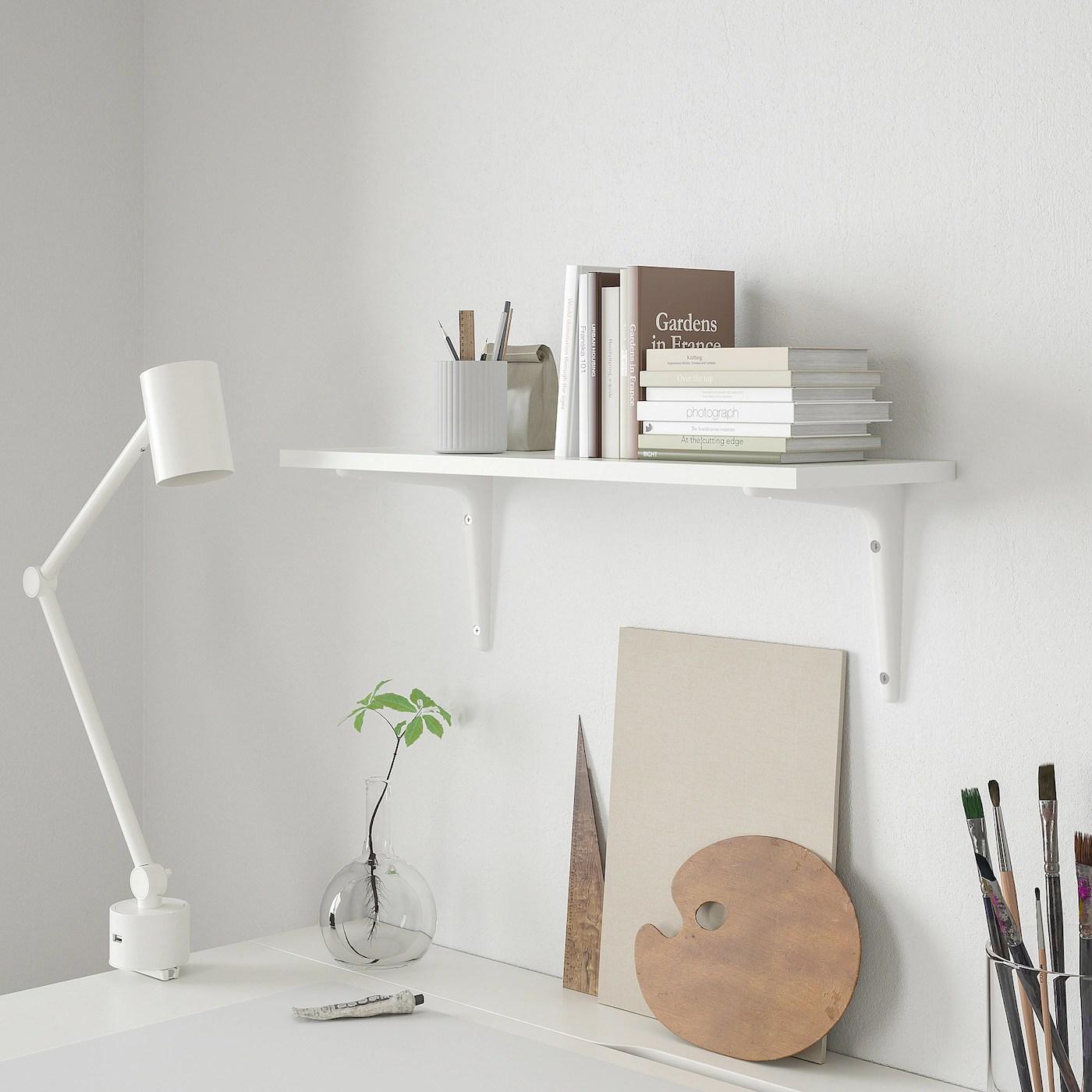 Mensole su misura in plexiglass. Burhult Sibbhult Mensola E Staffe Bianco Bianco Ikea Svizzera