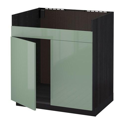 METOD Mobile base per lavello 2vas DOMSJ  effetto legno