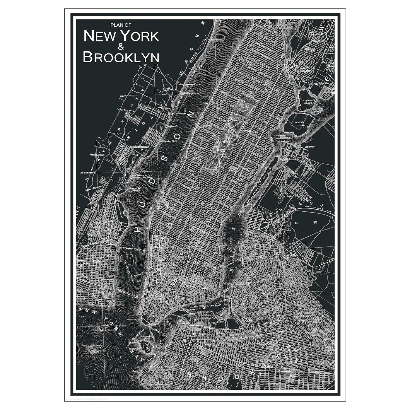 bild bild new york city 50x70 cm