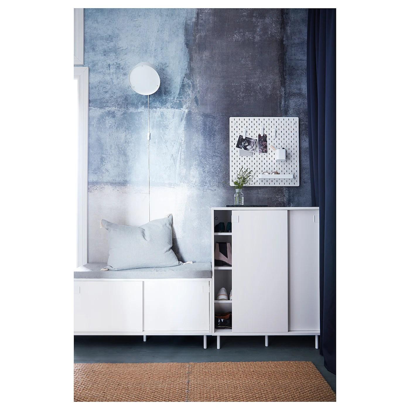 MACKAPÄR Bank mit Aufbewahrung - weiß - IKEA