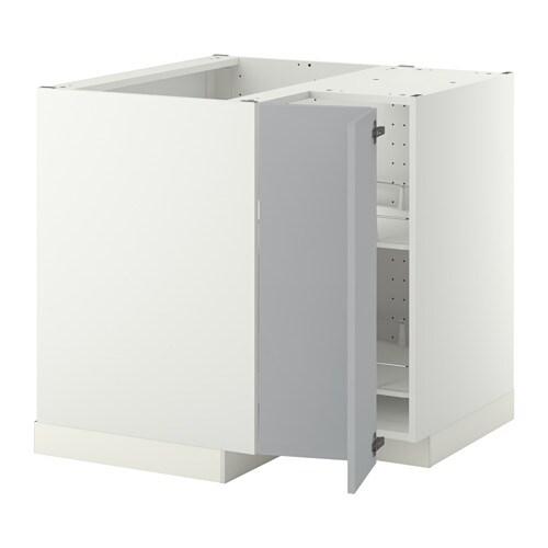 METOD EckunterschrankKarussell  wei Veddinge grau  IKEA