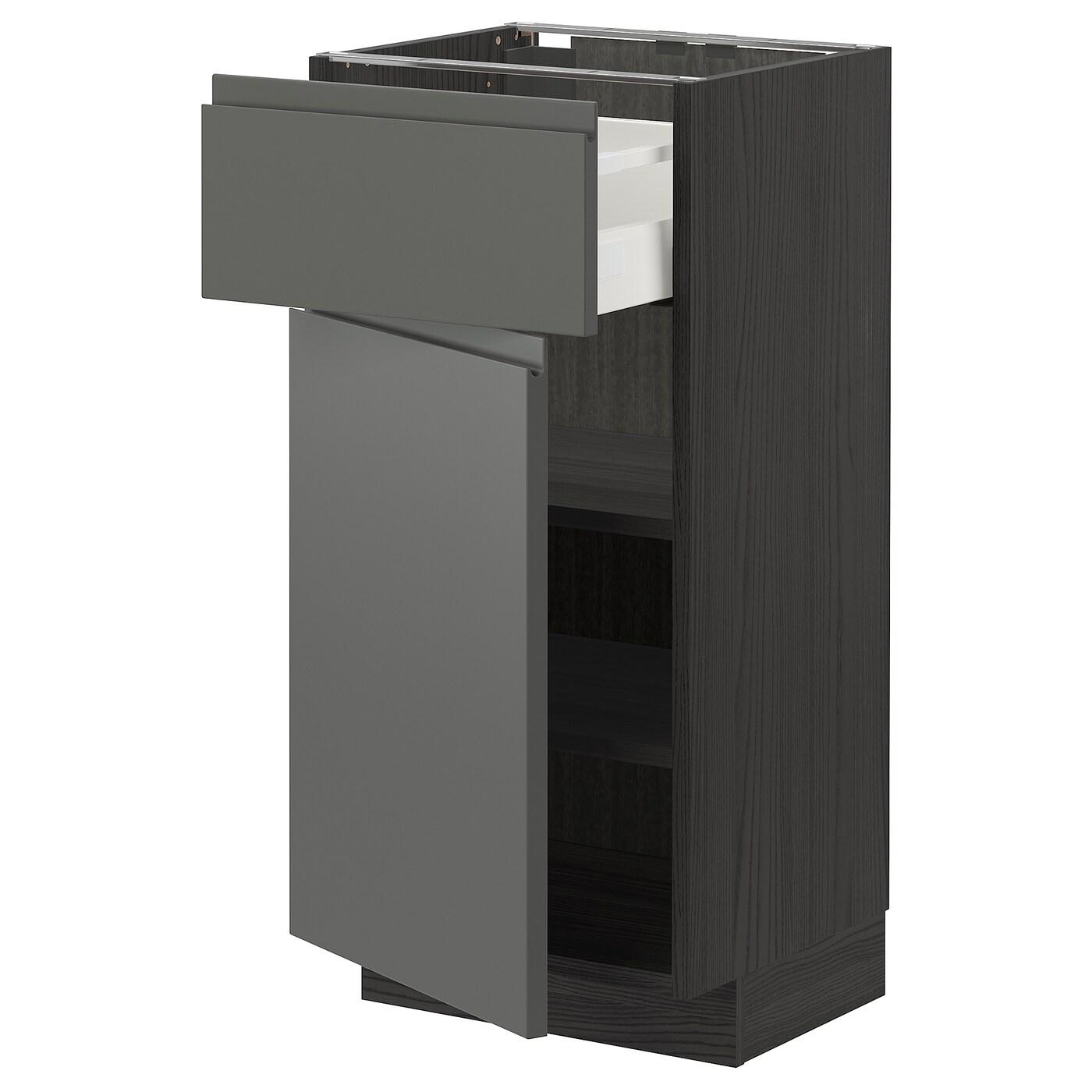 METOD / MAXIMERA Unterschrank mit Schublade/Tür   schwarz ...
