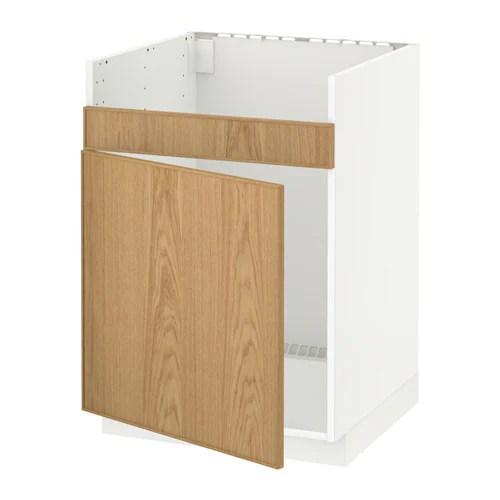METOD Unterschrank f DOMSJ Sple 1  wei Ekestad Eiche  IKEA