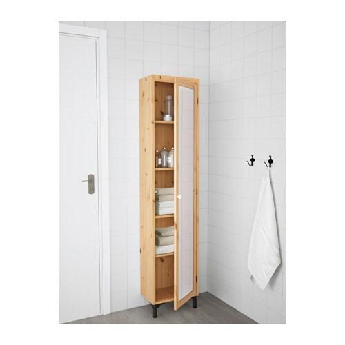 SILVERN Hochschrank mit Spiegeltr  hellbraun  IKEA
