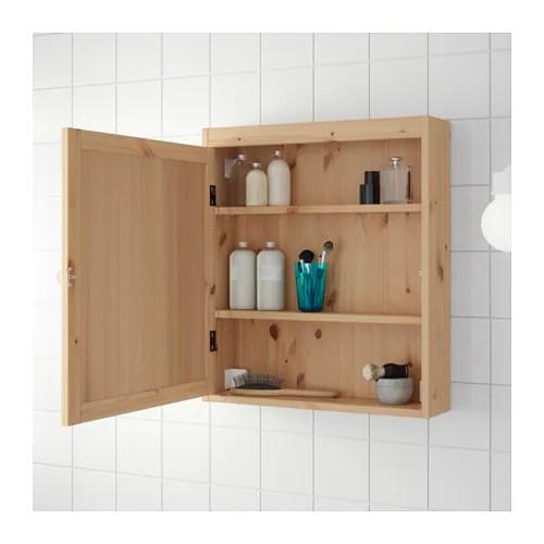 SILVERN Spiegelschrank  hellbraun  IKEA