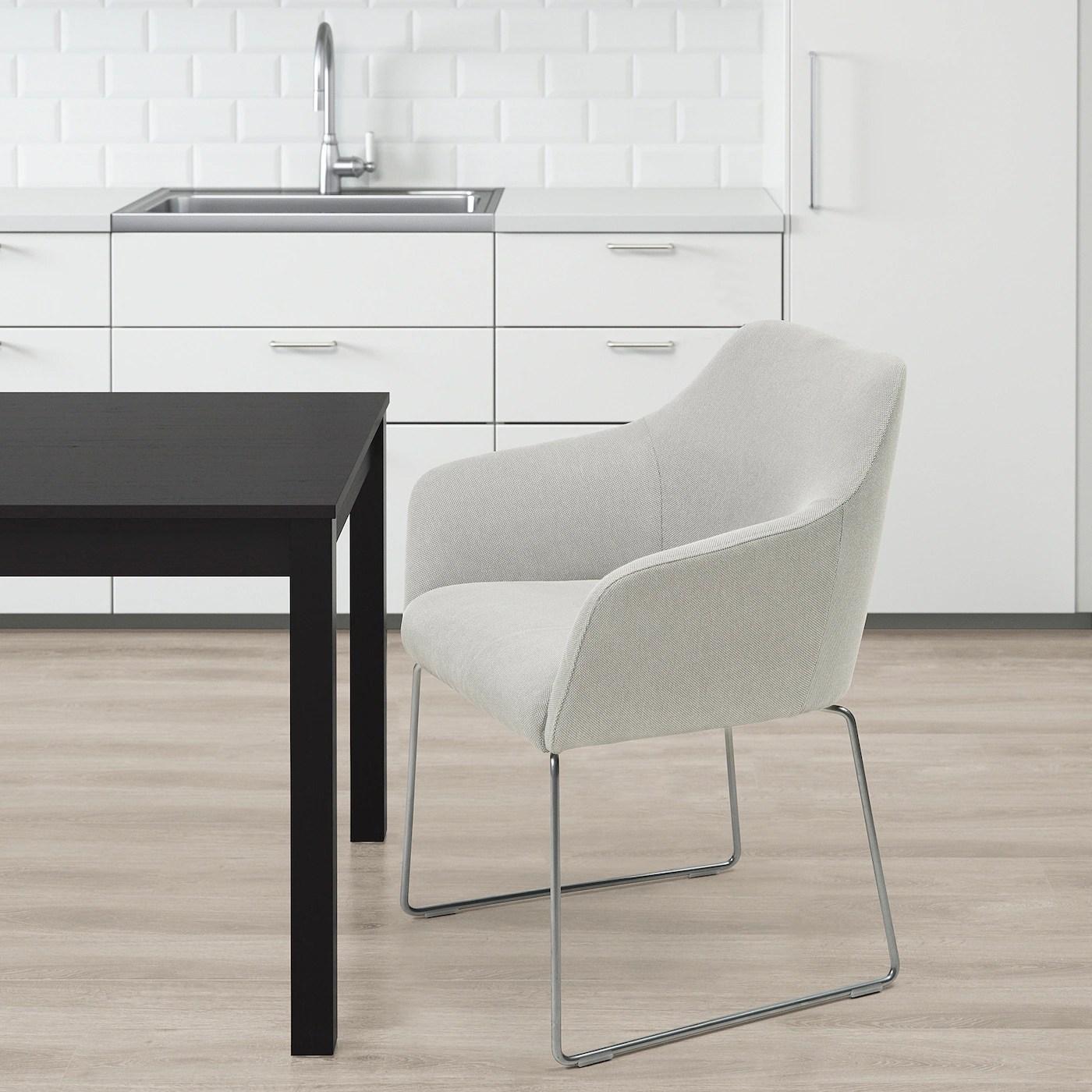 TOSSBERG Stuhl   Metall silberfarben, Finnsta weiß   IKEA ...