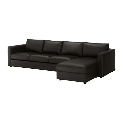 VIMLE 4erSofa  mit RcamiereFarsta schwarz  IKEA