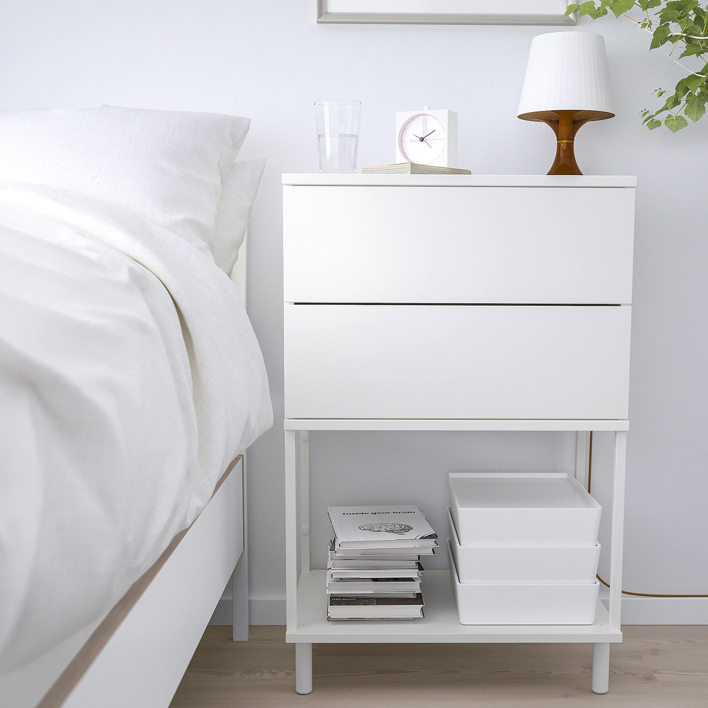 Platsa Kommode 2 Skuffer Hvid Fonnes Ikea