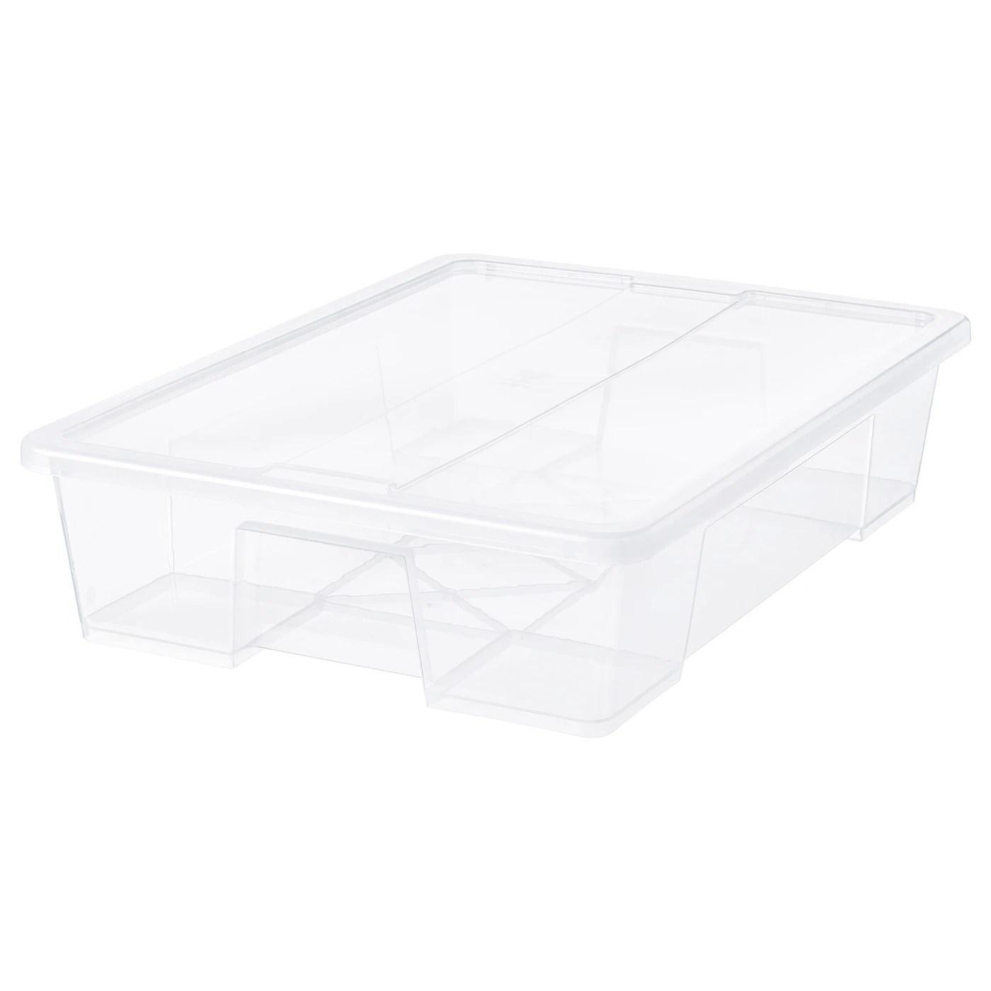 Samla Boks Med Lag Transparent 79x57x18 Cm 55 L Ikea